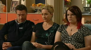 Allan Steiger, Bree Timmins, Janelle Timmins in Neighbours Episode 5185