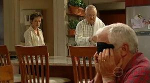 Susan Kennedy, Harold Bishop, Lou Carpenter in Neighbours Episode 5186