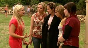 Sky Mangel, Janelle Timmins, Susan Kennedy, Rachel Kinski, Bree Timmins in Neighbours Episode 5186