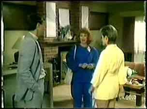 Father Kevin Barry, Carol Brown, Daphne Clarke in Neighbours Episode 0019