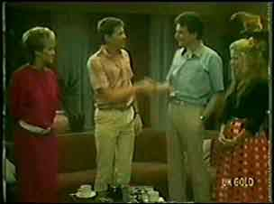 Daphne Clarke, Des Clarke, Leo Mason, Marilyn Temple in Neighbours Episode 0028