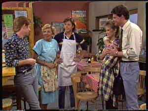 Clive Gibbons, Des Clarke, Daphne Clarke, Eileen Clarke, Mike Young in Neighbours Episode 0427