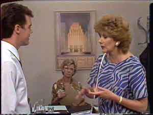 Paul Robinson, Madge Bishop, Helen Daniels in Neighbours Episode 0428