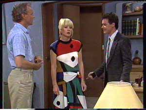 Jim Robinson, Rosemary Daniels, Paul Robinson in Neighbours Episode 0428