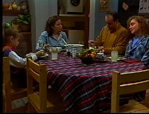 Hannah Martin, Julie Robinson, Philip Martin, Debbie Martin in Neighbours Episode 1751