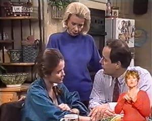 Julie Robinson, Helen Daniels, Philip Martin in Neighbours Episode 2018