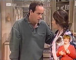 Philip Martin, Julie Robinson in Neighbours Episode 2018