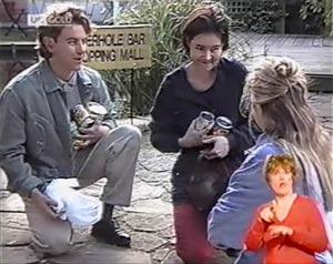 Jacob Collins, Ruth Avery, Lauren Carpenter in Neighbours Episode 2019