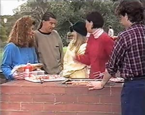 Lauren Turner, Ruth Avery, Jacob Collins in Neighbours Episode 2020