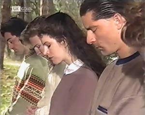 Members of Barrabas cult in Neighbours Episode 2020