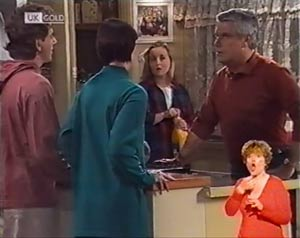 Jacob Collins, Ruth Avery, Lauren Turner, Lou Carpenter in Neighbours Episode 2022