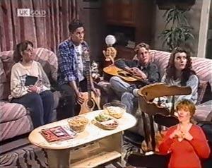 Members of Barrabas cult in Neighbours Episode 2022