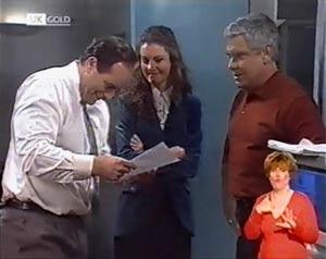 Philip Martin, Gaby Willis, Lou Carpenter in Neighbours Episode 2022