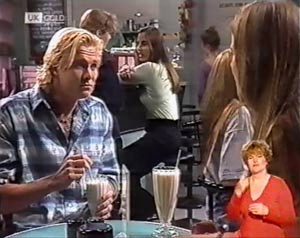 Brad Willis, Debbie Martin, Beth Brennan, Ally Slater in Neighbours Episode 2023