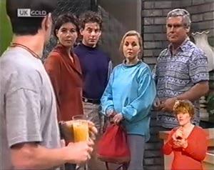 Rick Alessi, Ruth Avery, Jacob Collins, Lauren Carpenter, Lou Carpenter in Neighbours Episode 2025