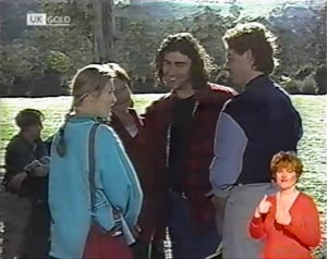 Lauren Turner, Ruth Avery, Jericho, Jacob Collins in Neighbours Episode 2025