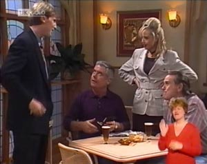 Jeffrey Hockney, Lou Carpenter, Annalise Hartman, Doug Willis in Neighbours Episode 2026