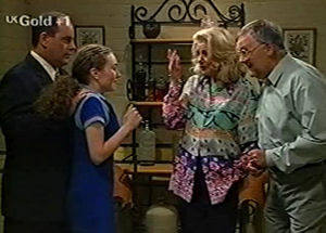 Philip Martin, Debbie Martin, Harold Bishop, Madge Bishop in Neighbours Episode 2920