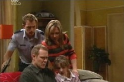 Stuart Parker, Steph Scully, Summer Hoyland, Max Hoyland in Neighbours Episode 4591