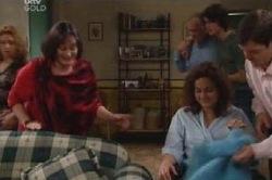 Serena Bishop, Svetlanka Ristic, Liljana Bishop, David Bishop, Harold Bishop, Luka Dokic in Neighbours Episode 4592