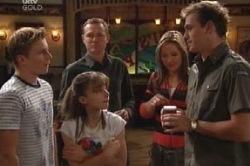 Boyd Hoyland, Max Hoyland, Summer Hoyland, Steph Scully, Stuart Parker in Neighbours Episode 4592