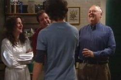 Liljana Bishop, David Bishop, Luka Dokic, Harold Bishop in Neighbours Episode 4592