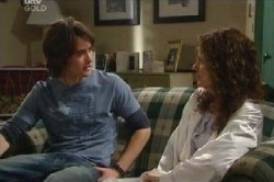 Luka Dokic, Liljana Bishop in Neighbours Episode 4593