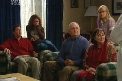 David Bishop, Serena Bishop, Harold Bishop, Svetlanka Ristic, Sky Mangel in Neighbours Episode 4593
