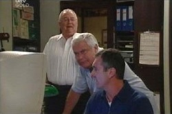 Harold Bishop, Karl Kennedy, Lou Carpenter in Neighbours Episode 4594