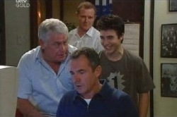 Lou Carpenter, Max Hoyland, Stingray Timmins, Karl Kennedy in Neighbours Episode 4595