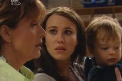 Susan Kennedy, Libby Kennedy, Ben Kirk in Neighbours Episode 4597