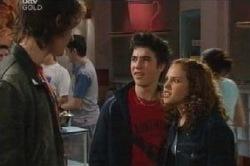 Luka Dokic, Stingray Timmins, Serena Bishop in Neighbours Episode 4599