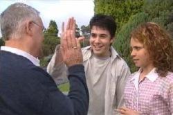 Harold Bishop, Stingray Timmins, Serena Bishop in Neighbours Episode 4599