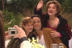 Susan Kennedy, Alessandro Cortes, Lyn Scully in Neighbours Episode 4600