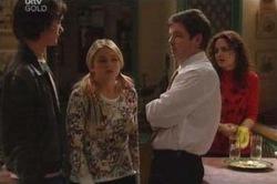 Luka Dokic, Sky Mangel, David Bishop, Liljana Bishop in Neighbours Episode 4604