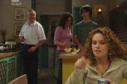 Harold Bishop, Liljana Bishop, Luka Dokic, Serena Bishop in Neighbours Episode 4614