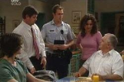 Luka Dokic, David Bishop, Stuart Parker, Liljana Bishop, Harold Bishop in Neighbours Episode 4614