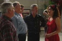 Lou Carpenter, Harold Bishop, Gino Esposito, Liljana Bishop in Neighbours Episode 4614