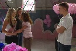 Sky Mangel, Lana Crawford, Serena Bishop, Boyd Hoyland in Neighbours Episode 4618