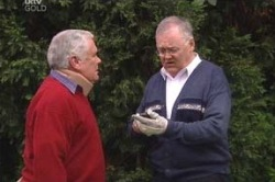 Lou Carpenter, Harold Bishop in Neighbours Episode 4619