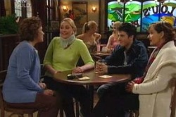 Lyn Scully, Janelle Timmins, Stingray Timmins, Susan Kennedy in Neighbours Episode 4625