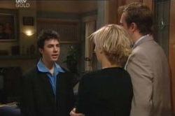 Stuart Parker, Stingray Timmins, Sindi Watts in Neighbours Episode 4627