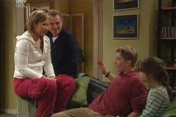 Steph Scully, Max Hoyland, Boyd Hoyland, Summer Hoyland in Neighbours Episode 4632