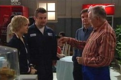 Sindi Watts, Toadie Rebecchi, David Bishop, Harold Bishop in Neighbours Episode 4632