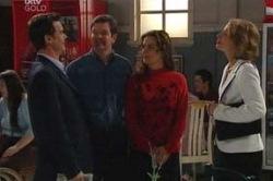 Paul Robinson, David Bishop, Liljana Bishop, Lee Thomas in Neighbours Episode 4633