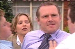 Boyd Hoyland, Steph Scully, Max Hoyland, Toadie Rebecchi in Neighbours Episode 4646