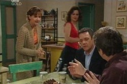 Susan Kennedy, Liljana Bishop, Paul Robinson, David Bishop in Neighbours Episode 4648