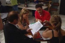 Max Hoyland, Izzy Hoyland, Paul Robinson, Steph Scully in Neighbours Episode 4655