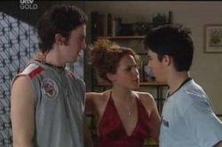 Dylan Timmins, Serena Bishop, Stingray Timmins in Neighbours Episode 4657