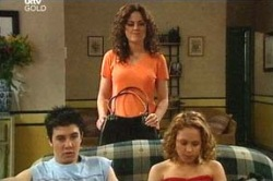 Liljana Bishop, Serena Bishop, Stingray Timmins in Neighbours Episode 4671